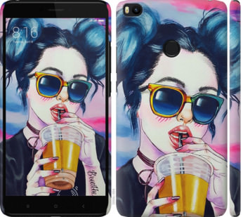 Чехол на Xiaomi Mi Max 2 Арт-девушка в очках