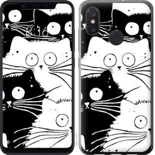 Чехол на Xiaomi Mi8 Коты v2