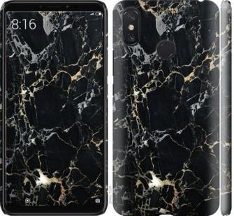 Чехол на Xiaomi Mi Max 3 Черный мрамор