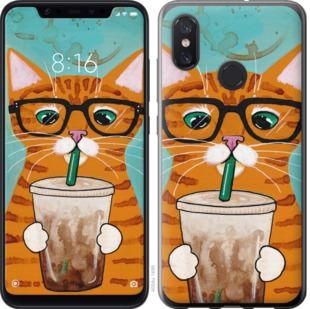 Чехол на Xiaomi Mi8 Зеленоглазый кот в очках