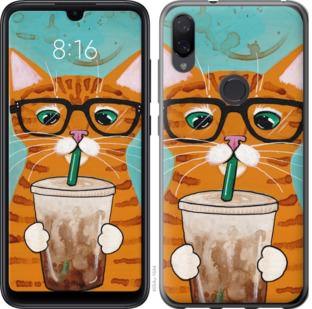 Чехол на Xiaomi Mi Play Зеленоглазый кот в очках