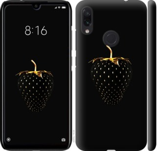 Чехол на Xiaomi Redmi Note 7 Черная клубника
