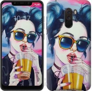 Чехол на Xiaomi Pocophone F1 Арт-девушка в очках