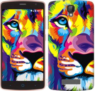 Чехол на ZTE L5 Разноцветный лев