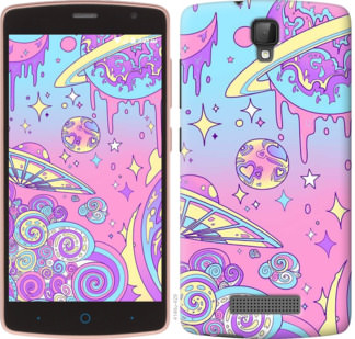 Чехол на ZTE L5 Розовая галактика