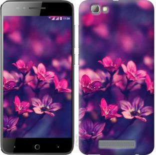 Чехол на ZTE A610 Пурпурные цветы