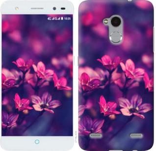 Чехол на ZTE V7 Lite Пурпурные цветы