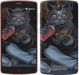 Чехол на ZTE L5 gamer cat