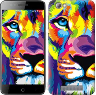Чехол на ZTE A610 Разноцветный лев
