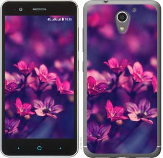 Чехол на ZTE A510 Пурпурные цветы