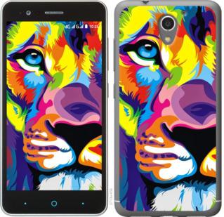 Чехол на ZTE A510 Разноцветный лев