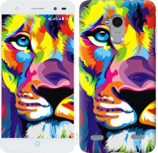 Чехол на ZTE V7 Lite Разноцветный лев