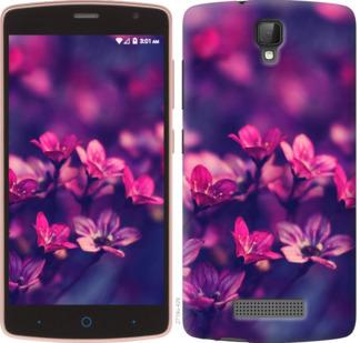 Чехол на ZTE L5 Пурпурные цветы