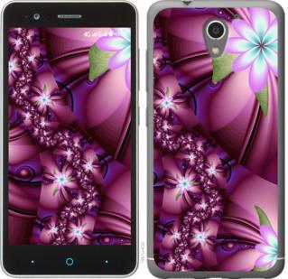 Чехол на ZTE A510 Цветочная мозаика
